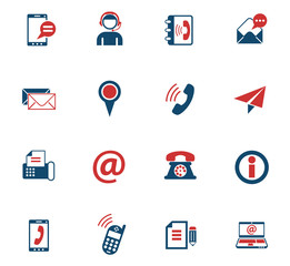 contact us color icon set