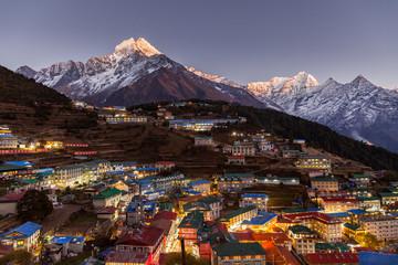 Fototapeta Namche Bazaar, Everest trek, Himalaya, Nepal obraz