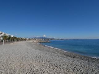 Cagnes sur mer  Alpes maritimes France la plage