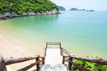 Cat ba island city beach in Vietnam