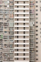 High-rise apartment Building Exterior.