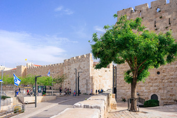 JERUSALEM, ISRAEL - APRIL 2017: Jaffa Gate - Jerusalem Old City