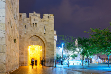 Jaffa Gate at Night - Jerusalem Old City