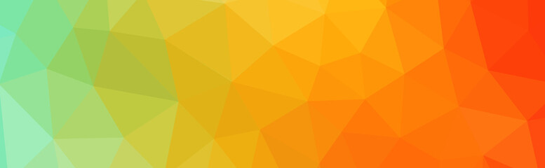 Abstract Gradient Low Poly Illustration Banner