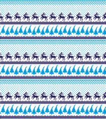 Christmas New Year's winter seamless festive Norwegian pixel pattern - Scandinavian style