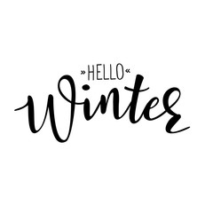 'Hello Winter' vector poster template