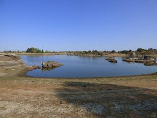 Los Barruecos. Parque nacional en Malpartida de Caceres ( Extremadura, España)