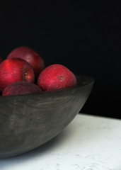 Apples in Bowl with Natural Light