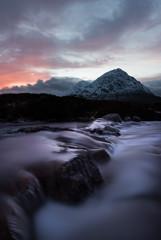 Glencoe Waterfall Sunset