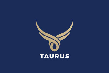 Bull Taurus silhouette Logo vector. Steak house butchery meat