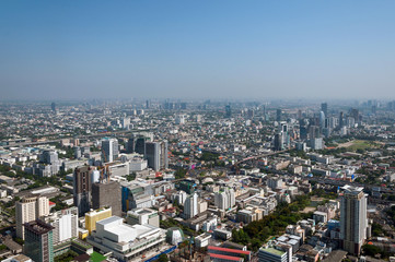 Panoramic view of the Bangkok from the observation deck, buildings, skyscrapers. Bangkok ,Thailand