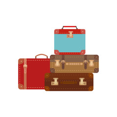 Retro travel luggage