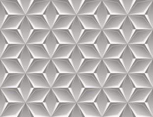Elegant geometry. Vector Seamless Black-to-white Stretching Halftone Pattern from of stars, texture of concrete