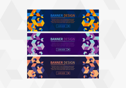 Colorful Abstract Pattern Web Banners 4