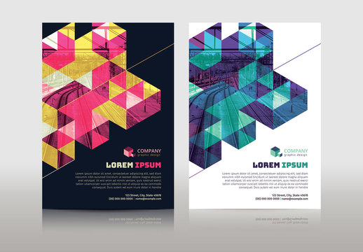 Multipurpose Flyer Layout with Geometric Element 8