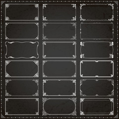 Decorative frames and borders rectangle 2x1 proportions set 4