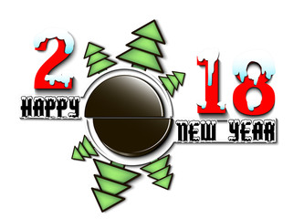 Happy new year 2018 and  hockey puck