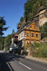 View of Hrensko village. Czech Republic