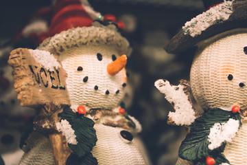 Snowmen Christmas background