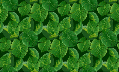 Leaves seamless pattern background