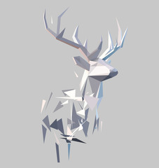 Polygonal abstract stag