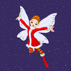 Printed kitchen splashbacks Fairytale World Christmas Fairy