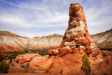 Spire rocks at Kodachrome Basin State Park, Utah, USA.