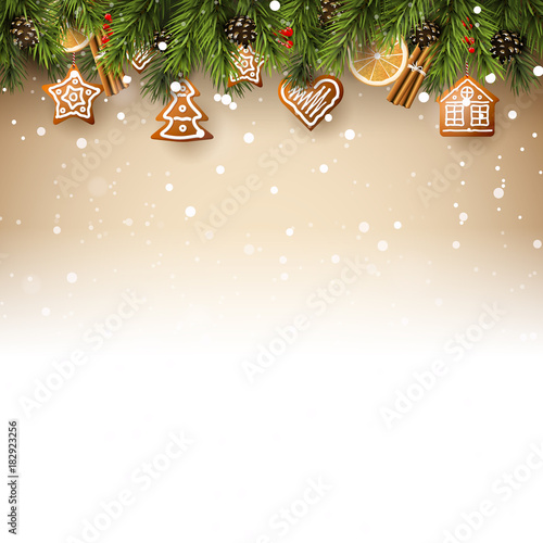 Christmas Background Free.Traditional Christmas Background Stock Image And Royalty