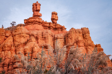 Close up of Interesting Rock Formations at Red Canyon, Utah, USA.