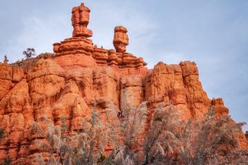 Close up of Interesting Rock Formations at Red Canyon, Utah, USA.