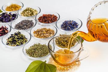 ハーブティーいろいろ Beautiful color herbal tea