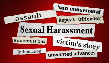 Sexual Harassment News Headlines Breaking Stories 3d Illustration