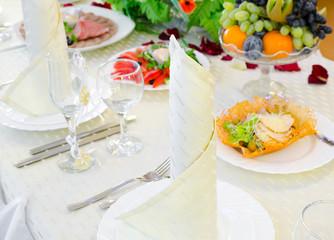 festive restaurant table
