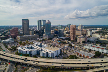 Wall Mural - Landscape aerial Downtown Tampa FL