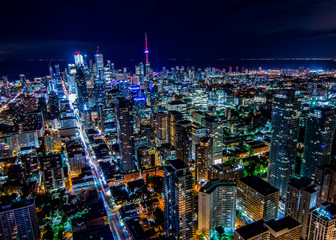 Photo sur Plexiglas Toronto Night Toronto