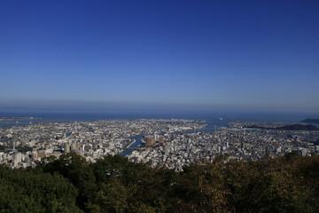 眉山山頂から眺める徳島市