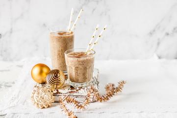 Christmas Date Milkshake with Cinnamon