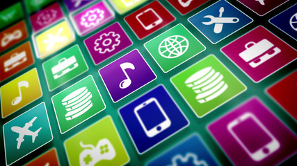 Flat Mobile Application Icons