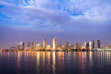 San Diego Skyline Downtown City Waterfront Coronado Island