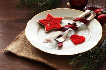 Weihnachten, gedeckter Tisch
