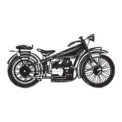 classic vintage motorcycle vector illustration
