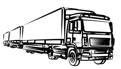 Sketch of the long truck.