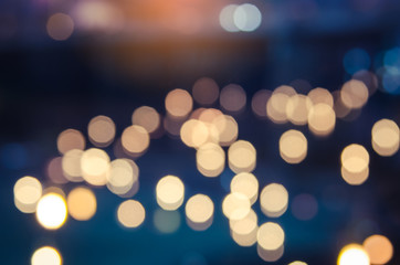 Bokeh light from candles abstrack background