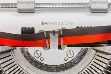 possible impossible sur machine à écrire manuelle vintage