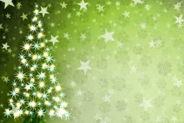 christmas tree background green winter snowflake