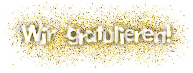 Wir Gratulieren Goldener Sand