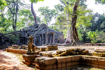 Temple in Angkor Wat, Cambodia.