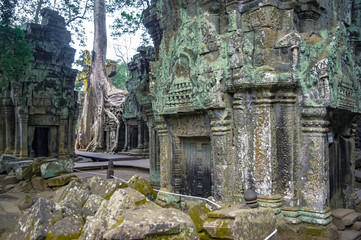 Temple in Angkor Wat, Cambodia.