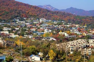 城北洞の高級住宅街(臥龍公園からの眺望)