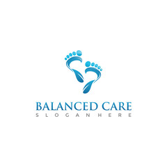 Balanced Care Therapy Logo Template. Vector Illustrator Eps.10